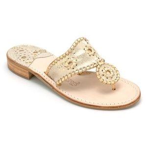 Jack Rogers Gold Shimmer Flat Sandal